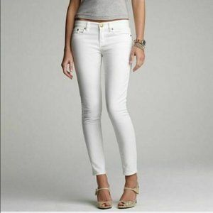 J Crew Women's Toothpick Ankle Stretch Jeans White
